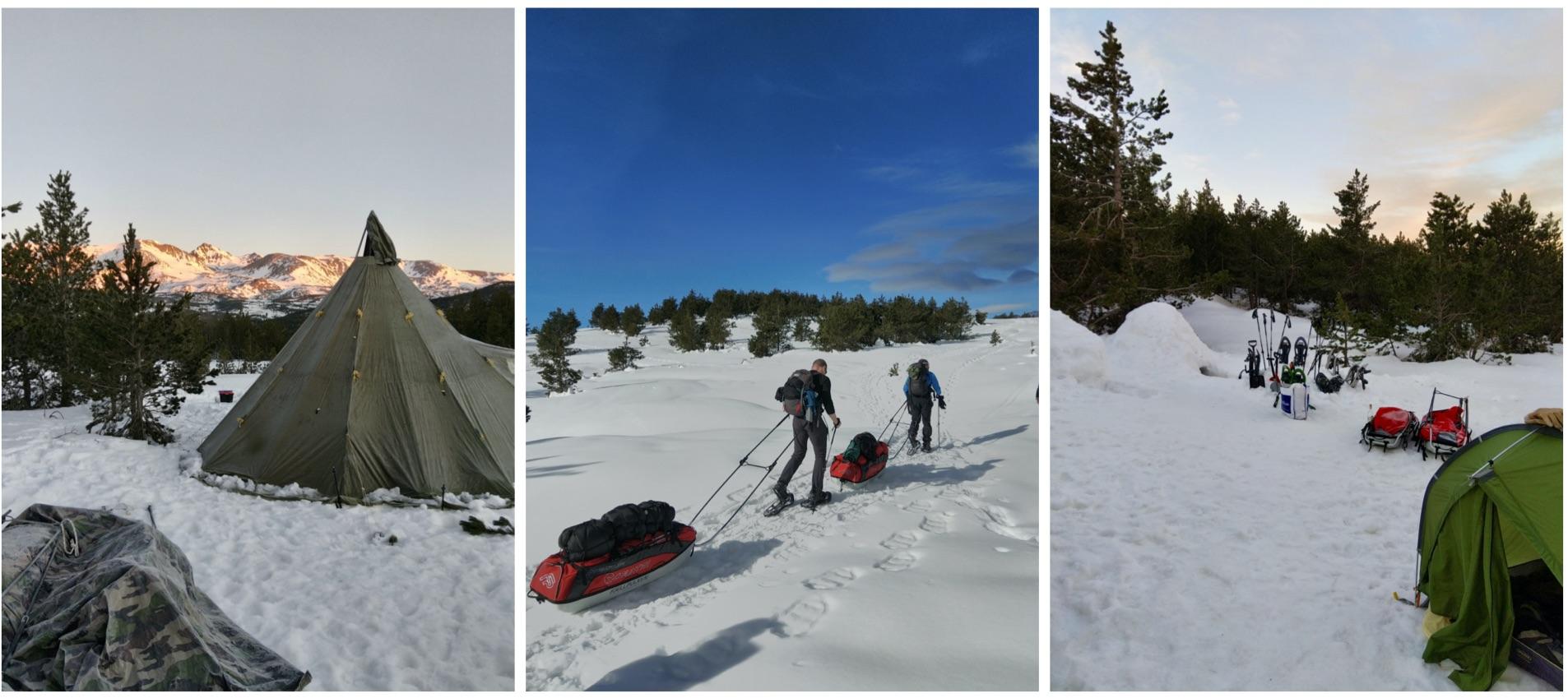 séjour raquettes montagne hiver pour améliorer ses connaissances de la pratique de la montagne enneigée