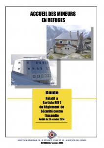accueil mineurs refuges montagne. Guide relatif à l'accueil des mineurs dans les refuges de montagne